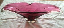 Glass Ruby Flower pot/vase
