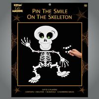 Pin The Smile On The Skeleton Halloween Party Game Decoration Children 12 Player