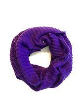DIESEL Women Purple Filoyarn Cowl Infinity Scarf NwT made in Italy $120