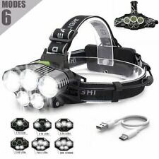 New 90000LM 5LED T6 Head Torch Headlight LED Rechargeable Headlamp CAMPING LAMP
