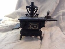 Vintage / Antique Crescent Cast Iron Miniature Toy Stove Large 10""