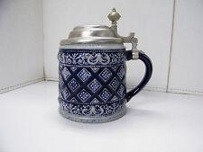 Vintage MR Marzy Remy Cobolt Blue German Beer Stein