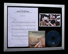 RISE AGAINST Help Is On Way LTD TOP QUALITY CD FRAMED DISPLAY+FAST GLOBAL SHIP