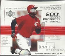 New listing 2001 Upper Deck Pros & Prospects Baseball sealed hobby box 24 packs Pujols RC