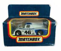Vtg Toy Car Diecast Matchbox MB-46 Sauber Group C Blue Model Boxed (s