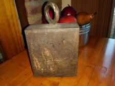 20 lb Iron Weight Tie down Vintage Cast Iron Primitive Heavy Lrg Handmade Rare