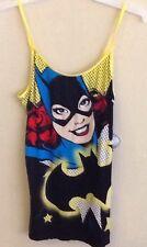 Ladies Batgirl Large 11-13 Cami Pajama Top Nighty Batman