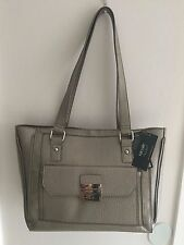 NWT Nicole Miller Lexi Purse Shoulder Bag Medium-Large Tote Pewter