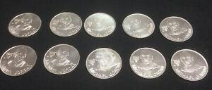 1991 Michael Jordan Bulls Starting Lineup Aluminum Coin Lot of 10 Free Shipping
