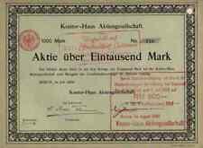 Kontor Haus Berlin1909 Immobilien Lederwerke Nord 1000 M Historische Wertpapiere