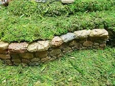 MG15B Marshall Home & Garden Miniature Fairy rock stone wall retaining fence