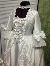 18th century Rococo Baroque Cosplay Costume Dress White