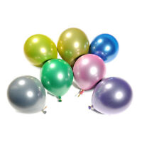 "5PCS 10"" Chrome Metallic Shiny Balloons Kit Bouquet Wedding Birthday Party Decor"
