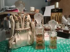 Prince douka marquay turban man set of 3 glass stopper vintage collectible rare