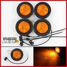 "(4) Amber 2"" Round 1 LED Side Marker Clearance Trailer Truck Light Fleet"