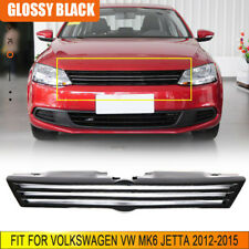 FRP Front Bumper Grille Grill Cover Trim Fit For Volkswagen VW MK6 Jetta 12-15