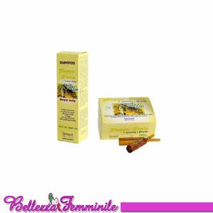 Shampoo 300ml e fiale 12x10ml capelli anticaduta pappa reale e ginseng Farmavit