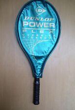 """Dunlop Power Flex Tennis Racquet w Cover Oversize Wide Body #3-4 3/8"""" w New Grip"""