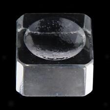 Cristal Verre Carré Pad Palette Pour Porte Colle Extension de Cils Support