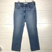 Levis 505 Straight Leg Jeans Women's Sz 6 Stretch Medium Wash  28x29