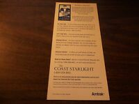 2000 AMTRAK COAST STARLIGHT GUARANTEED PERSONAL SERVICE  BROCHURE