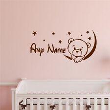 Bear Customized Personalized Name Children Nursery Kids Room Decor Wall Sticker