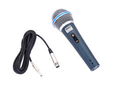 "MC-58A Professional Uni-directional Dynamic Handheld Corded Microphone 12"" Cable"