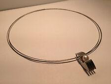 Nuevo - Collar Necklace SEDISTRI Erns - Acero + Colgante Acero con Perla - Pearl