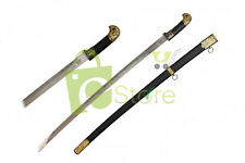"37-3/8"" Imperial Russian Cossack Shashka Officer Sword Black Scabbard Brand New"