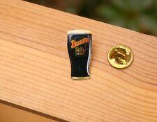 Beamish Genuine Irish Stout Beer Glass Gold Tone Metal & Enamel Pin Pinback