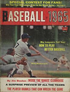 Whitestone Baseball 1965 Mickey Mantle Sandy Koufax Willie Mays Conigliaro Oliva