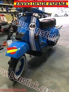 Kit Adhesivos Vinilos Calcomanía Stickers Laterales moto Scooter Vespa Piaggio