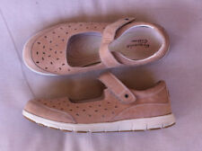 STYLISH ERGOSOLE CUSHION TAN LEATHER  MARY JANE FLATS SIZE: 11US NN RRP:$120