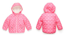 CARTER'S® PINK POLKA DOT PATTERN PUFFER JACKET WITH HOOD GIRLS SIZE 12M MSRP $56