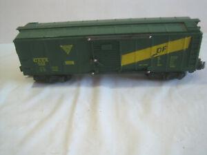 Vintage American Flyer No. 922 GAEX DF Box Car/ Sliding Doors/ Knuckle Couplers