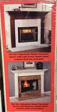 NIB/Opn Lowe's  Bel Aire Adjustable Mantel Surround Unfinished Poplar Wood
