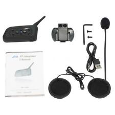 BT Bluetooth Motorrad Helm Interphone Intercom Headset V6 1200M 6 Fahrer B2G8