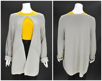 Womens Persona by Marina Rinaldi Knitted Cardigan Jumper Cotton Beige Size L