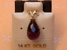 Exclusiver Amethyst & Diamant Anhänger - 14 Kt. Gold - 585 - Briolett Schliff -1
