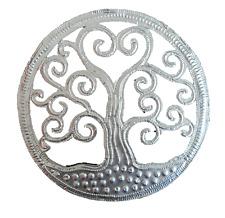 Tree Of Life Wall Plaque Hanging Decorative Metallic Traditional Silver Klimt