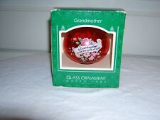 Vintage Hallmark 1985 Grandmother Glass Ornament in Org. Box