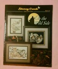 """On the Wild Side"" Stoney Creek Book #111, 7 Designs 21pgs ©1993 WILDLIFE"