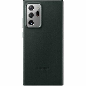 Original Samsung Leather  Cover  für Galaxy Note20 Ultra 5G, Grün, echtes Leder