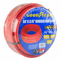 "Goodyear 50' x 3/8"" Rubber Air Hose 250 PSI Air Compressor Hose USA Made 12674"
