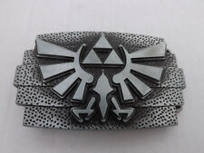 Crest Metal Belt Buckle Zelda Tri Force Silver