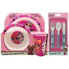 LOL Surprise 6 Piece Tableware Set - Dinner Set & Cutlery *NEW*