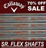 8 New Callaway LITE 60i GRAM SOFT SENIOR SR Flex Graphite 4-SW Iron Shafts.370