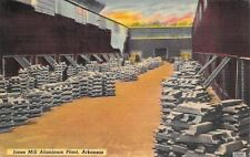 Malvern Arkansas~Jones Mill Aluminum Plant~Factory Inner Court~1952 Linen