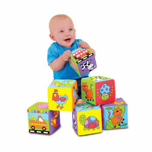 Galt Toys Baby Soft Blocks - Ideal for squeezing, throwing and building