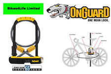 OnGuard Bulldog Combination Cycle  Shackle D- Lock Plus Cable  -  LK8012C